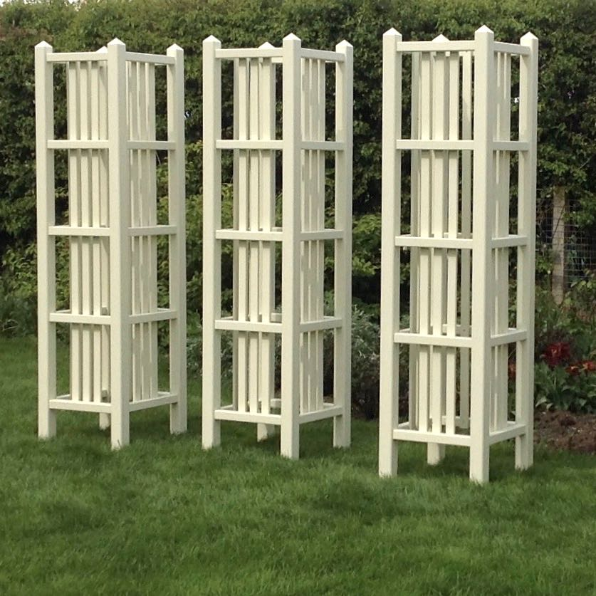 Art Deco Tower, Accoya Wooden Garden Obelisks Painted Any Colour