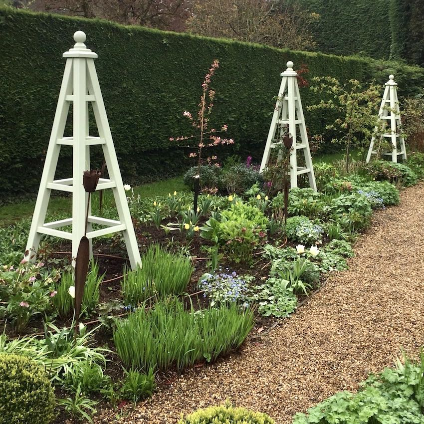 Large Wooden Garden Obelisks, Accoya Painted Any Colour